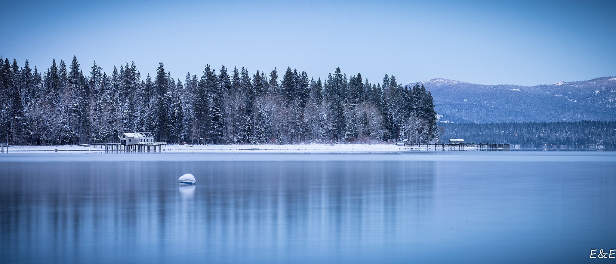 Winter scene at Lake Tahoe.