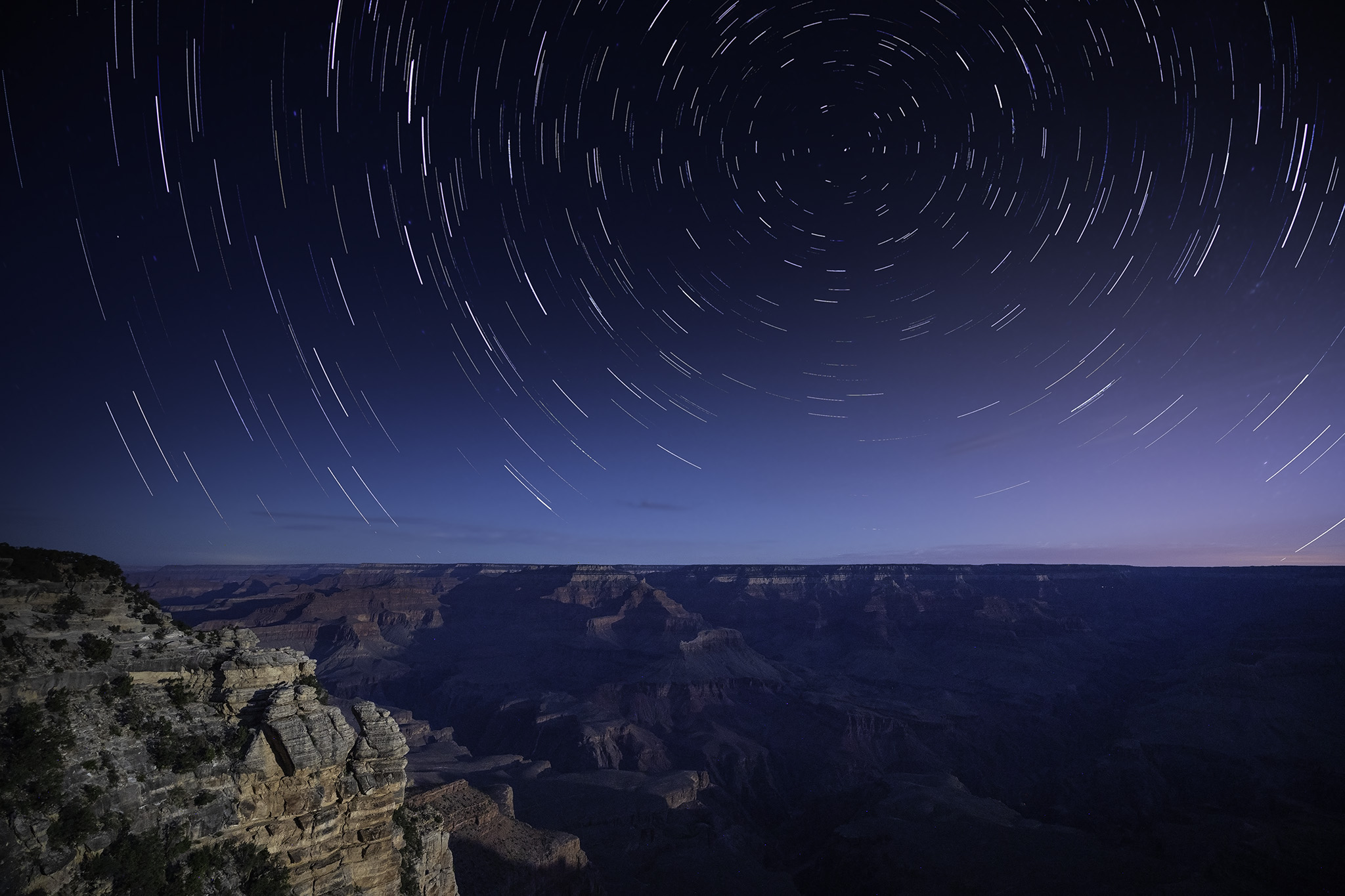 Star Trail at Mather Point, Grand Canyon National Park.