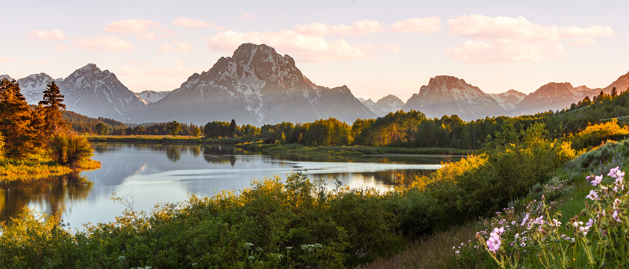 Sunset at Oxbul, Grand Teton National Park.