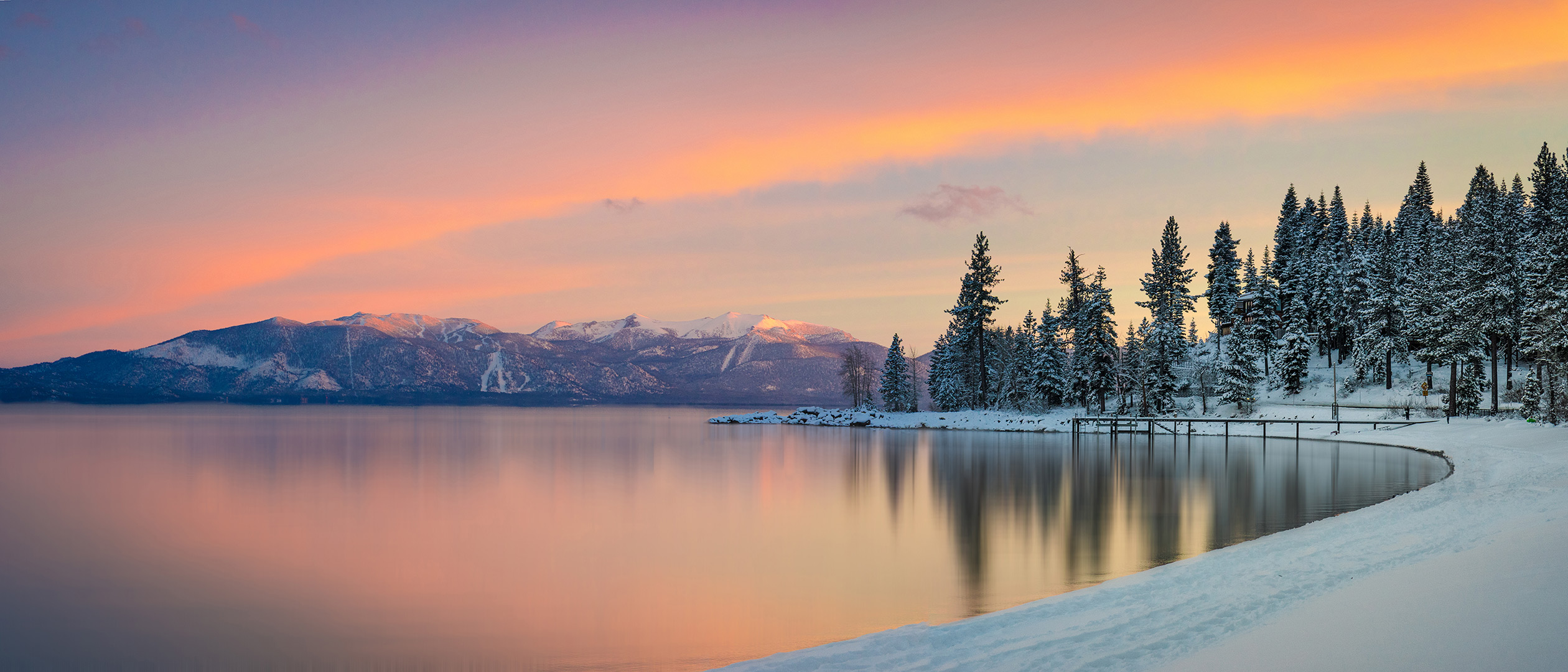 Sunset at Lake Tahoe.